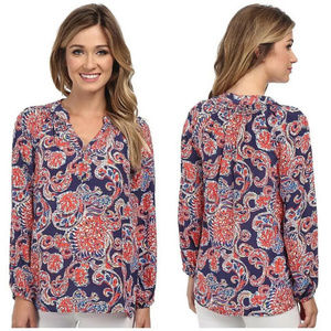 Lilly Pulitzer Elsa For the Halibut Silk Blouse